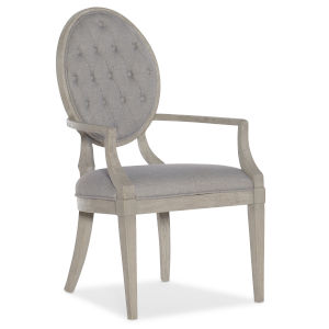 Reverie Gray 42-Inch Tufted Arm Chair