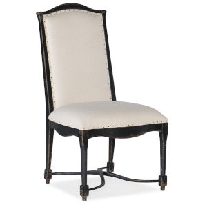 Ciao Bella Black 43-Inch Upholstered Back Side Chair