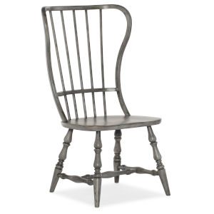 Ciao Bella Gray 43-Inch Spindle Back Side Chair