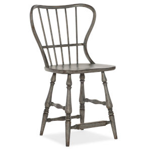 Ciao Bella Gray 43-Inch Spindle Back Counter Stool