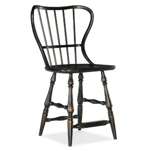 Ciao Bella Black 43-Inch Spindle Back Counter Stool