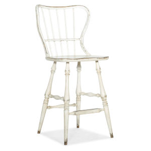 Ciao Bella Wood 49-Inch Spindle Back Bar Stool