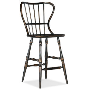 Ciao Bella Black 49-Inch Spindle Back Bar Stool