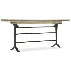 Ciao Bella Light Wood 72-Inch Flip-Top Console Table