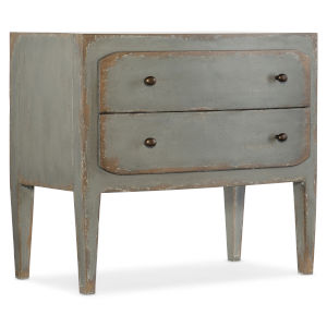 Ciao Bella Gray 34-Inch Two-Drawer Nightstand