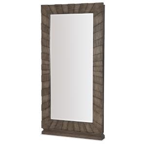 Woodlands Medium Wood 40-Inch Floor Mirror with Jewelry Storage