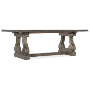 Woodlands Medium Wood 92-Inch Rectangle Dining Table