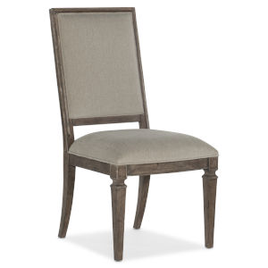 Woodlands Medium Wood 42-Inch Upholstered Side Chair