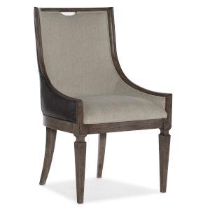 Woodlands Medium Wood 40-Inch Host Chair