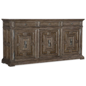 Woodlands Medium Wood 77-Inch Buffet