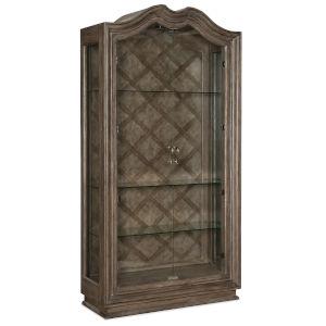 Woodlands Medium Wood 50-Inch Display Cabinet