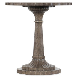 Woodlands Medium Wood 24-Inch Round End Table