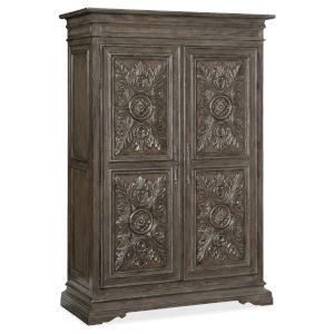 Woodlands Medium Wood 59-Inch Wardrobe