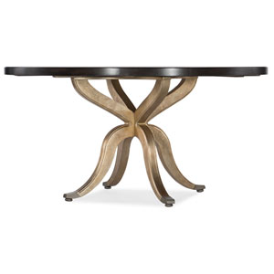 Curvee Gold 60-Inch Round Dining Table