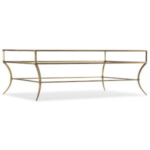5846-80 Gold 52-Inch Cocktail Table