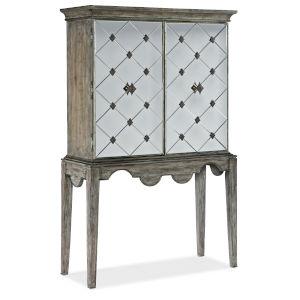 Sanctuary Light Wood Bar Cabinet