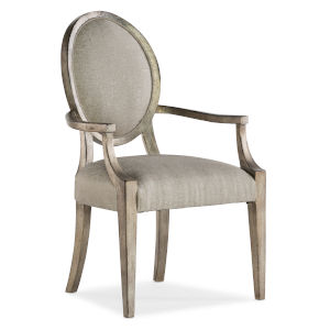 Sanctuary Champagne Oval Arm Chair