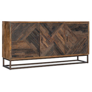 Dark Wood Entertainment Console