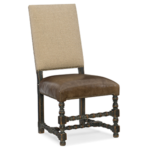 Hill Country Brown and Beige Comfort Upholstered Side Chair