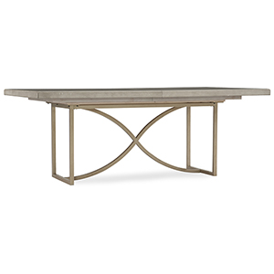 Elixir Gray and Beige 80-Inch Rectangular Dining Table with 1-20-Inch Leaf
