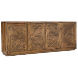 Natural Wood 90-Inch Entertainment Console