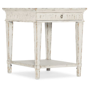 Cadence Latte Froth One-Drawer End Table