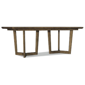 Sundance Brown Rectangle Dining Table with Two 18-Inch Leaves