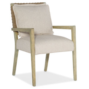 Surfrider Natural Woven Back Arm Chair