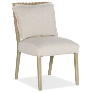Surfrider Natural Woven Back Side Chair