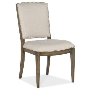 Sundance Brown Carved Back Side Chair