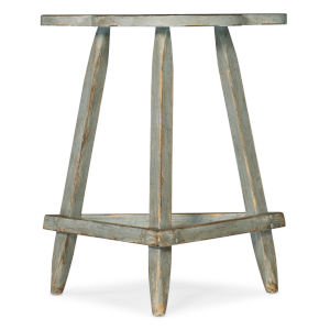Alfresco Gustavian Blue Accent Table