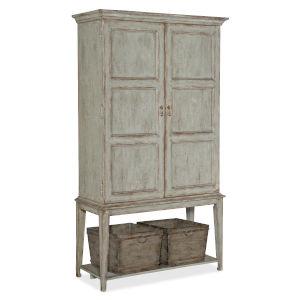 Alfresco Gustavian Blue Cabinet