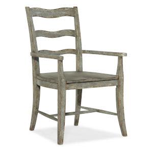 Alfresco Oyster Ladder Back Arm Chair