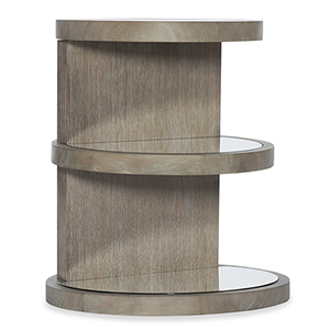 Affinity Gray Round End Table