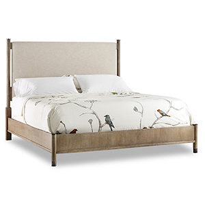 Affinity Gray California King Upholstered Bed