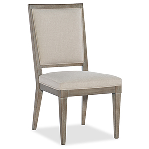 Pacifica Light Wood Upholstered Side Chair