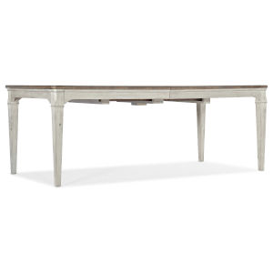 Montebello Danish White and Carob Brown Rectangle Dining Table