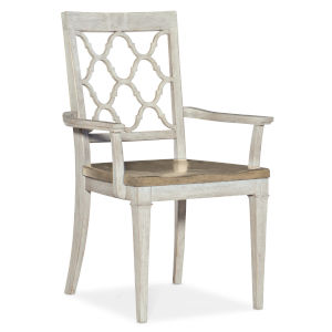 Montebello Danish White and Carob Brown Arm Chair