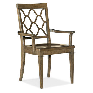 Montebello Carob Brown Arm Chair