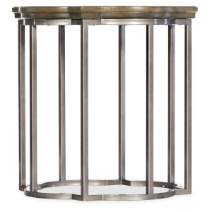 Montebello Carob Brown Round End Table