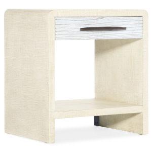 Cascade White One-Drawer Nightstand
