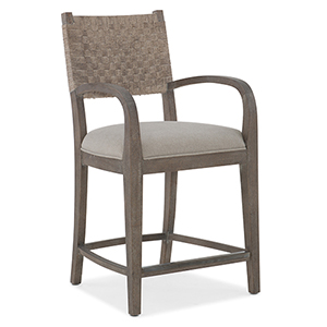 Miramar Carmel Gray OKeefe Counter Stool
