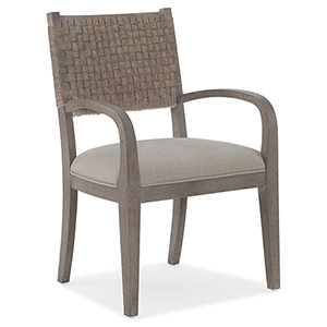 Miramar Carmel Gray Artemis Woven Arm Chair