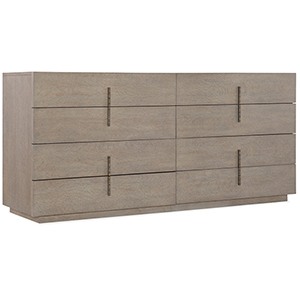 Miramar Carmel Gray Auguste Eight Drawer Dresser