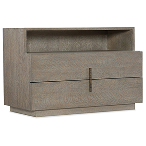 Miramar Carmel Gray Laguna Two Drawer Nightstand