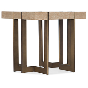 Miramar Point Reyes Light Wood Max Square End Table