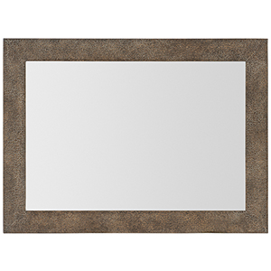 Miramar Point Reyes Dark Wood Costa Mesa Leather Mirror