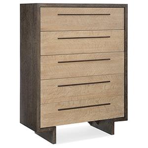 Miramar Point Reyes Dark Wood Hermosa Five-Drawer Chest