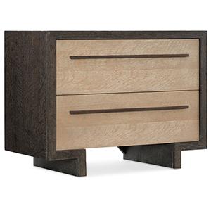 Miramar Point Reyes Dark Wood Winslow Two-Drawer Nightstand