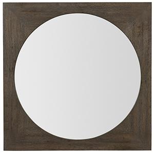Miramar Aventura Dark Wood Redondo Mirror